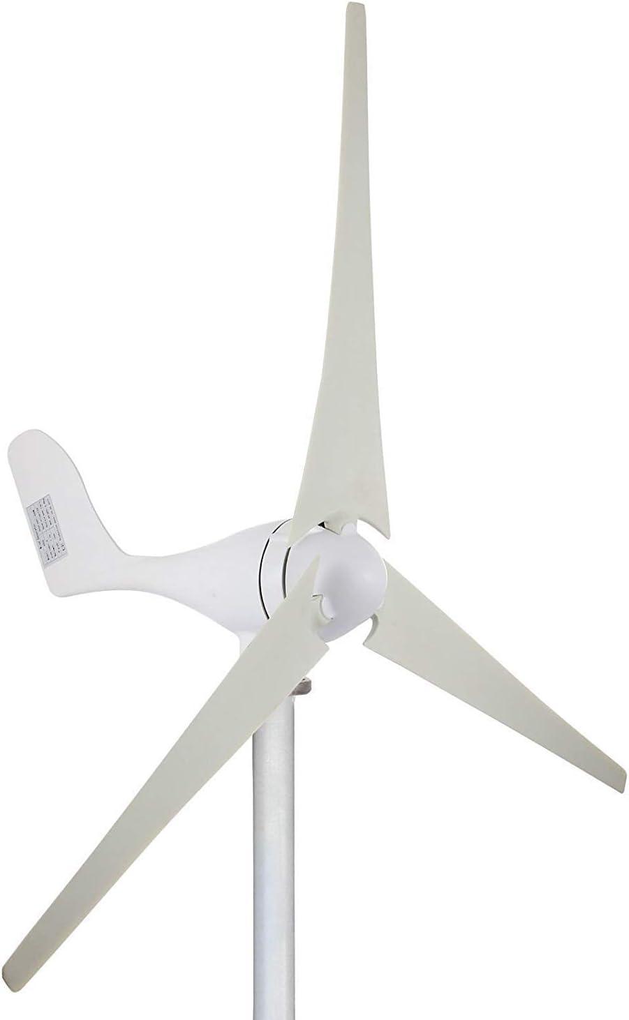 YUYUKUAILAI 700W 12V Aerogenerador Turbina de 3 Piezas Kit de Controlador de Carga MPPT Horizontal energía eólica Add-on (700W 24V),100W