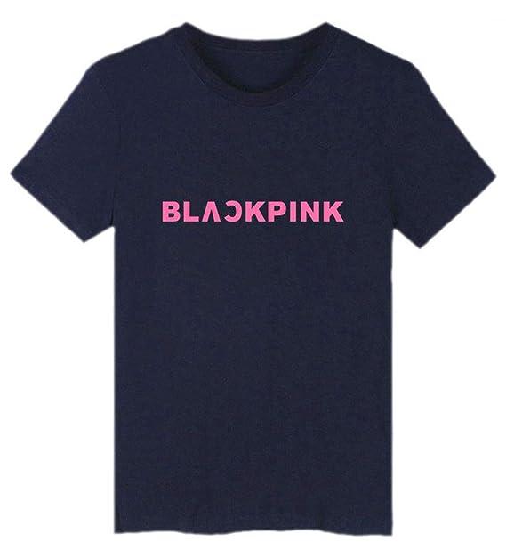 SIMYJOY Pareja Blackpink Fans KPOP Hip Pop Manga Corta Pull-Over Cool Camiseta para Hombre Mujer Adolescentes: Amazon.es: Ropa y accesorios