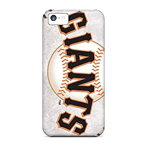 Scratch Protection Hard Phone Covers For Iphone 5c (KhY3458DEEY) Unique Design Trendy San Francisco Giants Image
