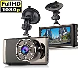 Dash Cam,Dyzeryk Car dashboard Camera 3.0' Screen,Full HD 1080P,170 Degree Wide Angle,Vehicle On-dash Video Recorder Camcorder,Car Camera With G-Sensor,Loop Recording,Night Vision,WDR