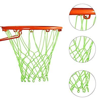 Nightlight Basketball Net | Outdoor Sun Powered Nightlight Basketball Net, Glow in The Dark Basketball Net, Glowing Basketball Hoop Rim Net (Green): Kitchen & Dining