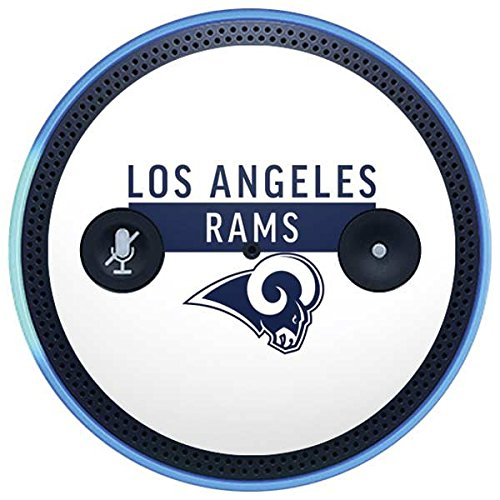 Skinit NFL Los Angeles Rams Amazon Echo Plus Skin - Los Angeles Rams White Performance Series Design - Ultra Thin, Lightweight Vinyl Decal Protection