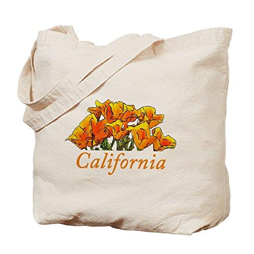 CafePress–Blue–Gamuza de amapolas de California–lona bolso, bolsa de la compra