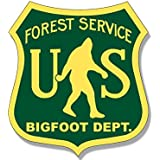 American Vinyl US Forest Service Bigfoot DEPT Sticker (Funny Sasquatch Hunter)