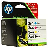HP 364 4-Pack Black and Colour Original ink Combo Pack (Replaces J3M82AE)