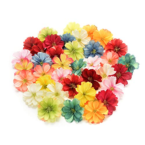 Fake flower heads in bulk wholesale for Crafts