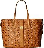 MCM Women's Reversible Liz Large Shopper in Visetos Cognac 2 One Size