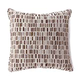 Furniture of America Dames 18'' Square Throw Pillow in Brown (Set of 2)