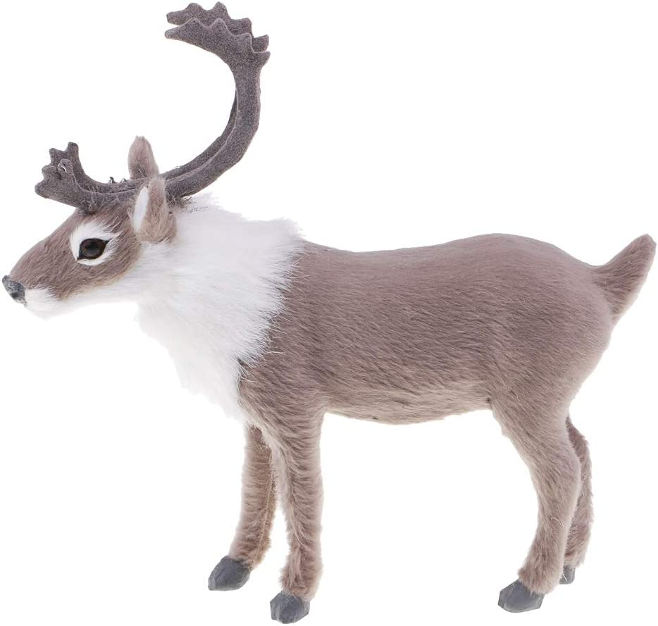 Braun Daily Mall Pl/üsch Rentier Puppe Figur Weihnachten Weihnachtsdekoration Ornament Party Supplies