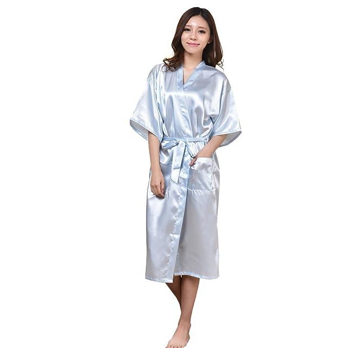 Kimono bata de vestir túnica lencería ropa de noche,Kimono Mujer Bata largo sexy y