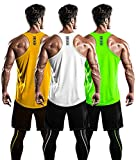 DRSKIN Men's 3 Pack Dry Fit Y-Back Muscle Tank Tops