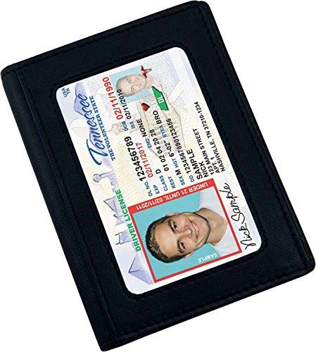 - AurDo Men's RFID Blocking Minimalist Wallet Double Id Bifold Slim Leather Wallet (Black)