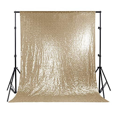 PONY DANCE Backdrop Fabric Decorations - Sequin Fabric Shinny Sparkling Backdrop for Wedding/Party/Photography/Curtain/Birthday/Christmas/Prom, 53