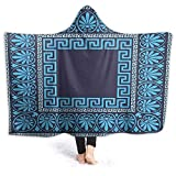 Wearable Hood Throw Blankets Wrap Intricate Floral