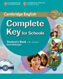Complete Key for Schools Student's Book with Answers with CD-ROM, David McKeegan, 0521124719