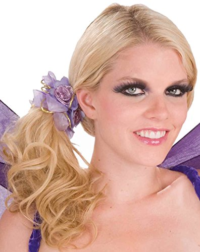 Purple Flower Pixie Fairy Costume Accessory Bracelet Anklet Hair Scrunchy - Pixie Costume Hair