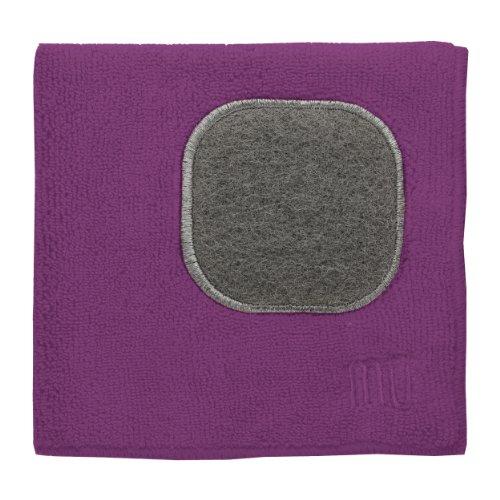 UPC 811700016891, MUkitchen Microfiber Dishcloth with Scrubber - Berry