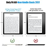 VORI Case for Kindle Oasis(9th Generation, 2017 Release),Shell Smart Cover 7 Kindle Oasis, Premium Slim Folio Protective Case with Auto Wake/Sleep For Amazon All-New Kindle Oasis E-reader- Black