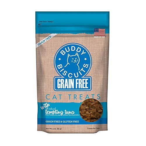 Cloud Star Grain Free Buddy Biscuits For Cats, Tempting Tuna, 3 Ounce ()