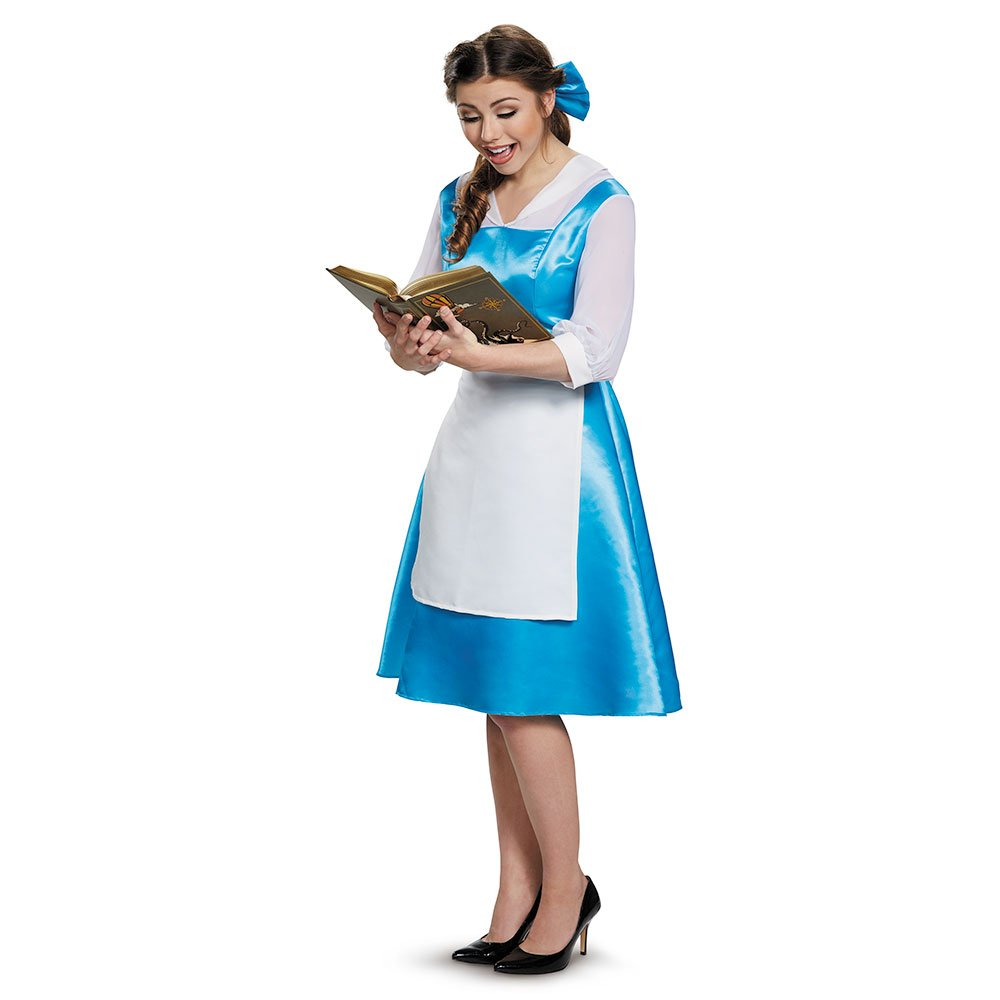 Beauty and the Beast Belle Blue Dress Adult Costume, Womens