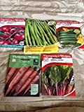 buy 5 Packets of Seeds, courgette, Beans, Carrot, Tomato & Chard Thompson & Morgan now, new 2020-2019 bestseller, review and Photo, best price $9.99