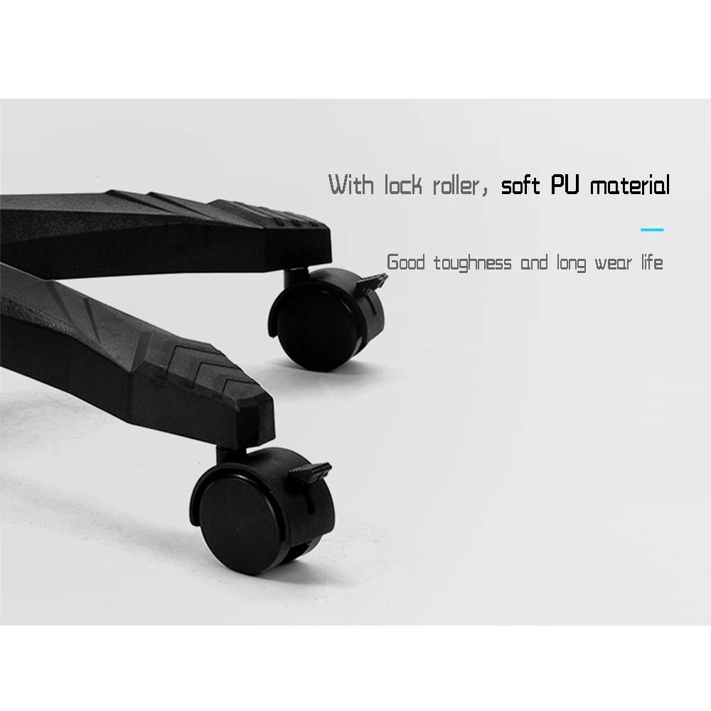 JIEER-C Stol Liggande tyg kontorsstol, med footrrst ergonomisk verkställande stol justerbar höjd med nackstöd bärkapacitet: 150 kg, blå Grått