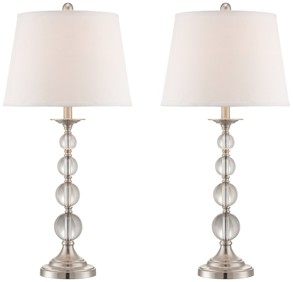 Quad stacked crystal table lamps set of 2 amazon aloadofball Images