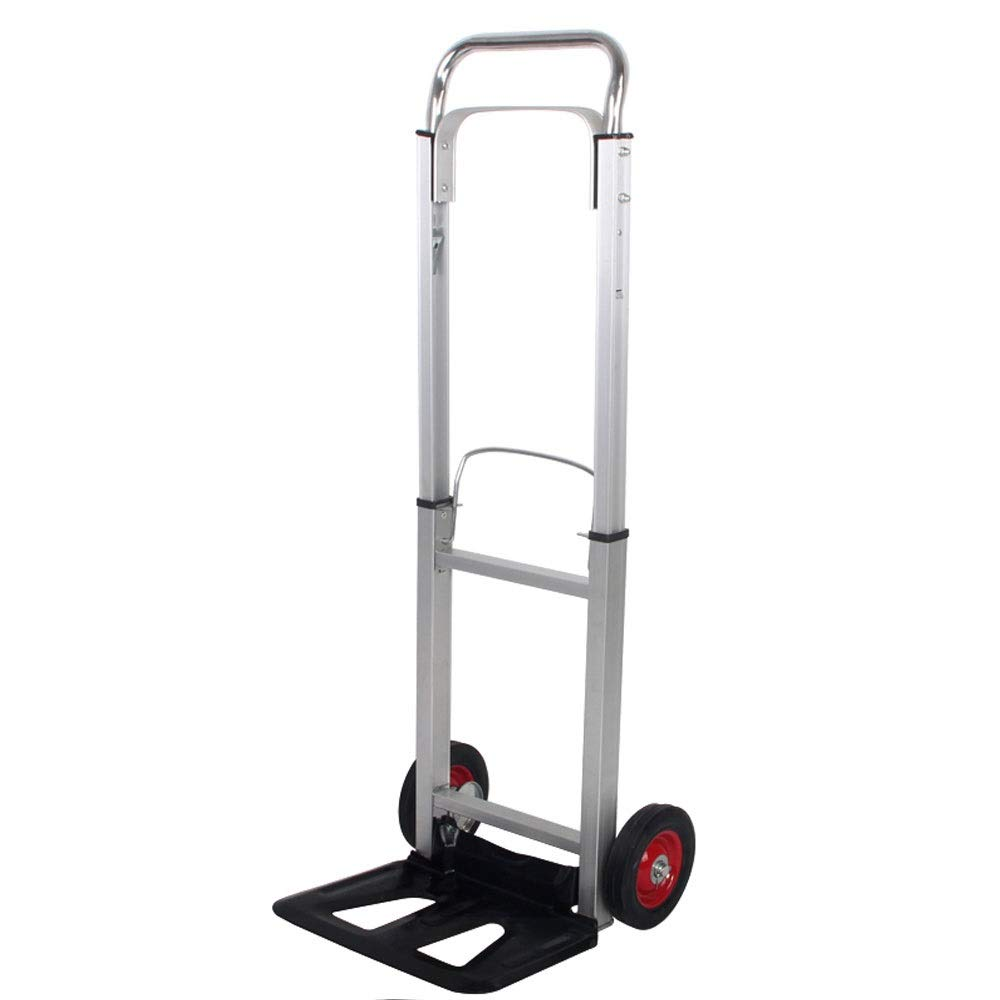 LULIN Folding Portable Trolley car, Carrying Heavy Objects, Aluminum Alloy Trolley, Heavy Load, Retractable Lever