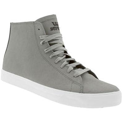 Amazon.com | Supra Men's Thunder (Grey Waxed Canvas) (14, Grey) | Fashion  Sneakers