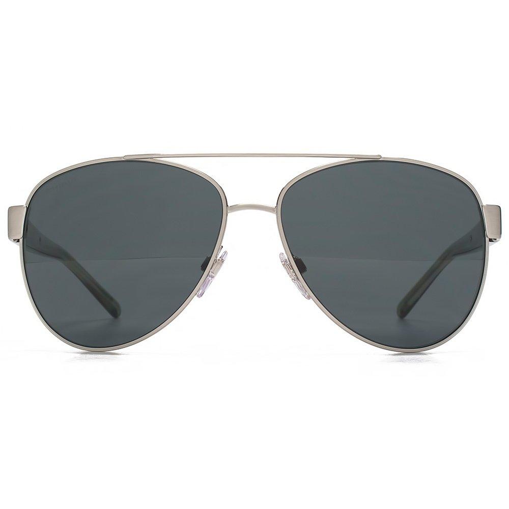 Burberry Rayure Temple Aviator lunettes de soleil en argent brossé BE3084  116687 57 57 Grey  Amazon.fr  Vêtements et accessoires becf10445cf3