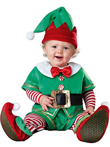 [Santa's Lil' Elf Costume - Infant Small] (Childrens Santas Helper Costume)