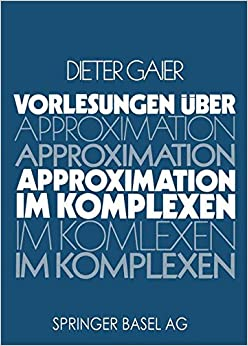 Book Vorlesungen über Approximation im Komplexen