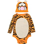 Disney Tigger Baby Boys' Costume Bodysuit and Hat Set, Orange (0-3 Months)