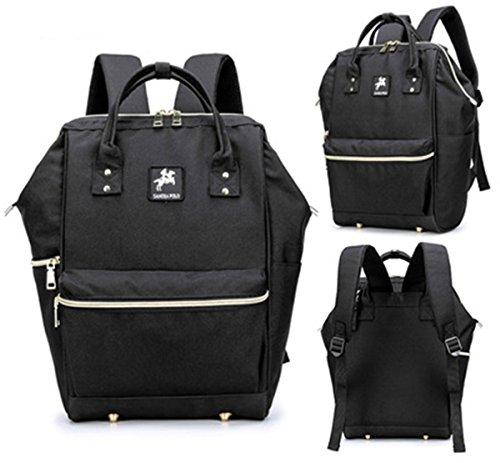 BigForest Multifunction Mummy Backpack Travel Bag Baby Diaper Nappy Changing Handbag tote bag Black