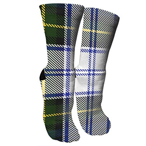 LALABULU Crazy Socks Gordon Dress Tartan Plaid 3D Crew Socks