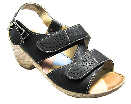 Shoe Womens US 36 Wedges Black Pinky 8 Sandals 5 Via M D Bety 0xf6qn