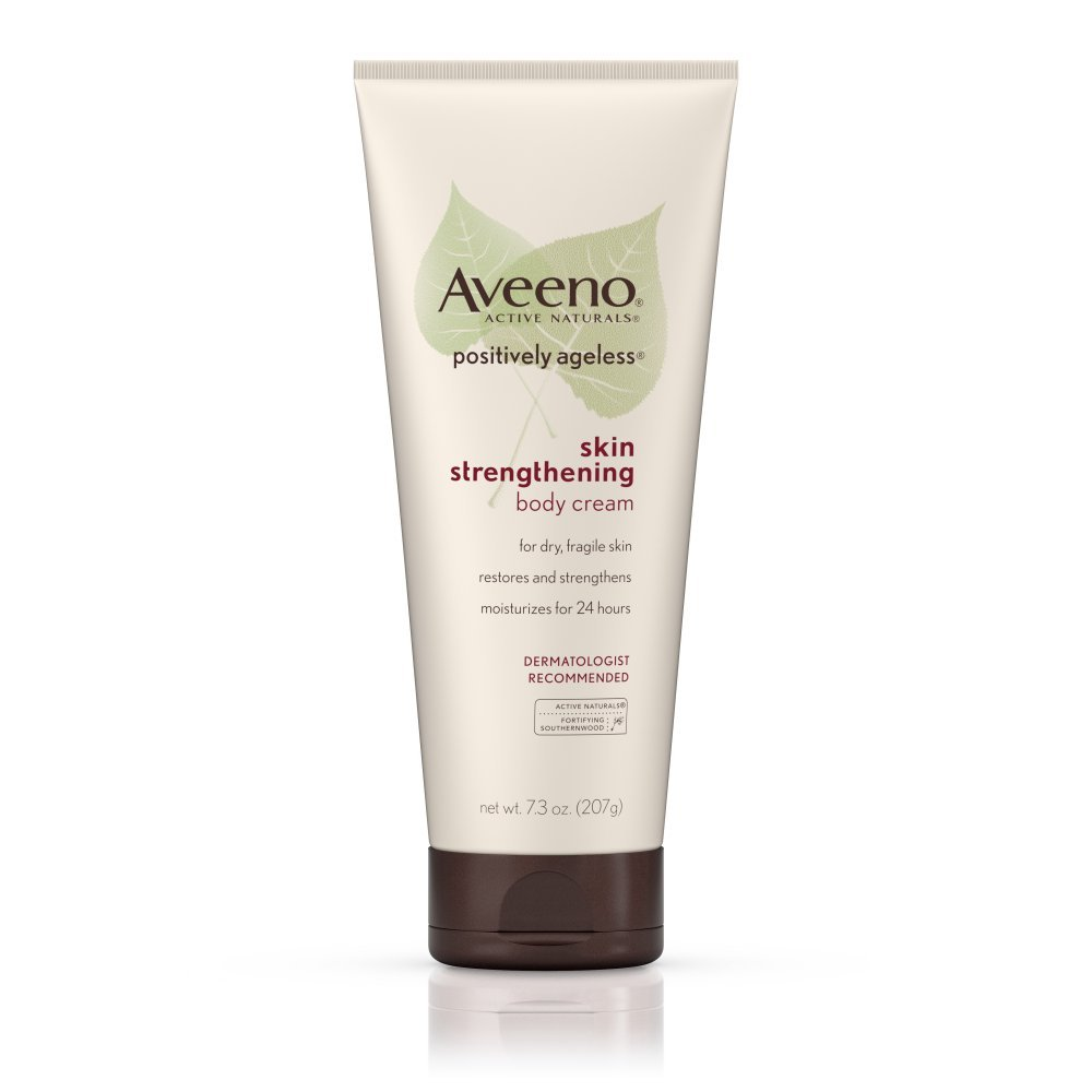 Aveeno Active Naturals Positively Ageless Skin Strengthening Body Cream - 7.3 Oz ( Pack of 3 ) by Aveeno