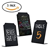 Small Acrylic Chalkboard Signs Uses Both Chalk And Liquid Chalk Markers - Mini Blackboard with Stand for Restaurant & Cafes, Menus & Place cards, Weddings & Events, Parties & Food Buffet Size 4 x 6
