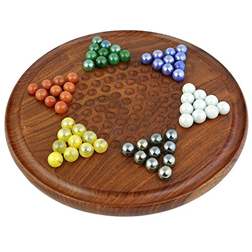 [해외]로얄 Handicrafts Chinese Checkers with 구슬 핸드메이드 원목 Toys / Royal handicrafts Chinese Checkers with marbles handmade wooden toys
