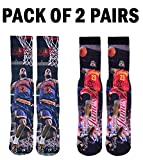 Forever Fanatics Cleveland Lebron James #23 Basketball Crew Socks ✓ Pack of 2 Home & Away ✓ Lebron James Autographed ✓ One Size Fits All Sizes 6-13 ✓ Perfect Gift (Size 6-13, James #23 Pack of 2)