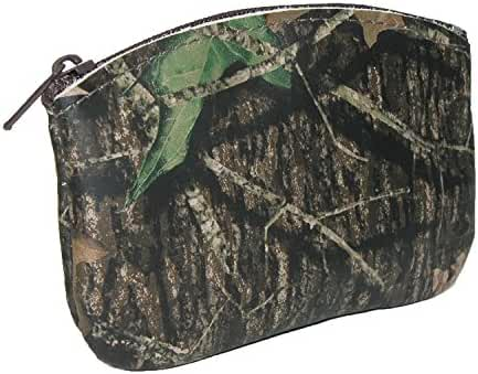 CTM Leather Camouflage Print Credit Card Pouch and Coin Holder