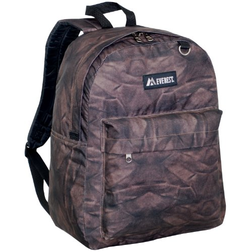 Everest Luggage Classic Backpack (One Size, Brown Rock) Everest Rocks