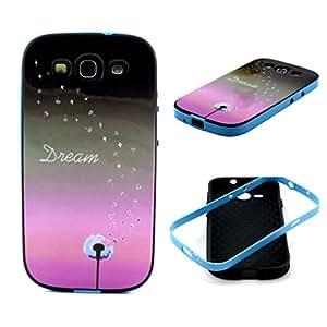 Para Galaxy S3 Mini , ivencase Dream Novelty Diseño Frame [ 2 in 1 Estilo ] Híbrido TPU Silicona Piel Cubierta Funda Protección-Móvil Cover Para Samsung Galaxy S3 Mini i8190