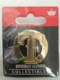 TEXAS RANGERS logo gold T emblem lapel pin Genuine Major League Baseball MLB NEW