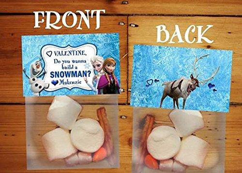 'Do You Wanna Build a Snowman' Frozen Candy Party Favor Kits (Valentine Kit) -