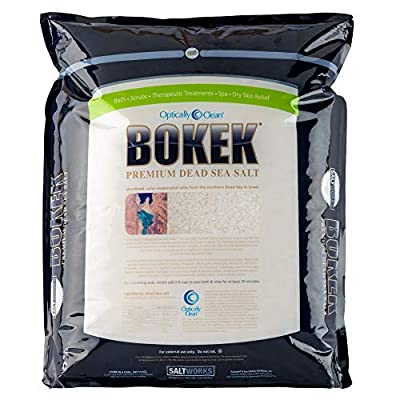 Saltworks Bokek Dead Sea Salt, Extra Coarse, 55 Pound