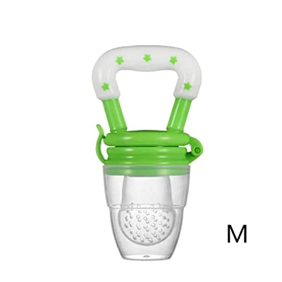 JINGYANHUA 1PC Baby Teether Nipple Fruit Food Mordedor Silicona Bebe Silicone Teethers Safety Feeder Bite Food Teether BPA Free,Green,M: Home & Kitchen