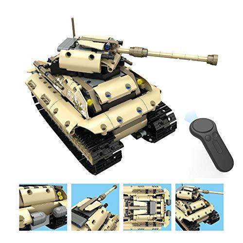 - Coersd RC Tank 1:18 DIY Assemble RC Cars Alloy 2.4G Radio Control Brick Tank Toys Gift 27.2x12x15cm