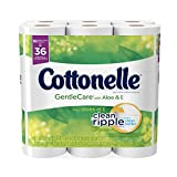 Health & Personal Care : Cottonelle Gentle Care with Aloe & Vitamin E Double Roll Toilet Paper Bath Tissue, 18 Rolls, 204 Count