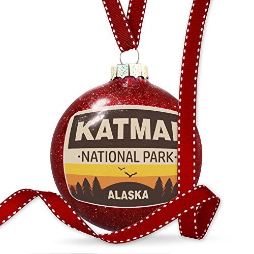 Christmas Decoration National Park Katmai Ornament by NEONBLOND